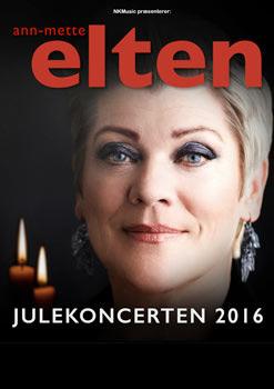 Ann-Mette Elten Plakat- Julekoncerten 2016
