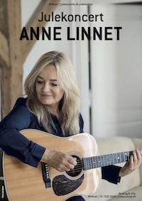 Anne Linnet Julekoncert plakat